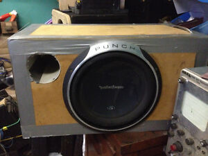 Like New Rockford Fosgate Punch P3 with Amp