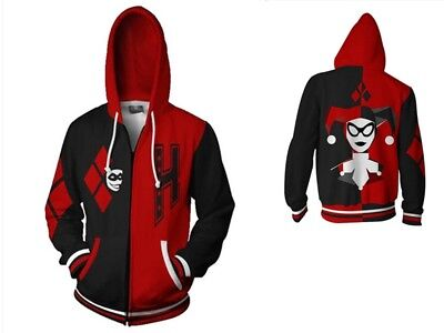 Newest Fashion Women/Men's 3D Print Harley Quinn Zipper Hoodies Sweatshirts - Harley Quinn Hoodie