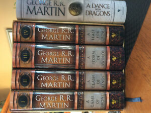 Game of Thrones book series.  Hard Cover. Mint condition.