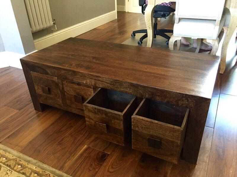 debenhams mango wood coffee table | in brockley, london | gumtree