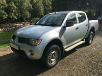 Mitsubishi L200 2.5DI-D 4WD Double Cab Pickup 4Life silver 2008 no vat with ac