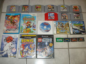 Wii U,Wii,Gamecube,N64,GBA & DS Games!