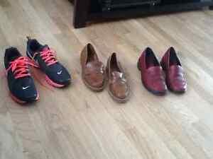 Souliers en cuir pour femmes et espadrilles Nike