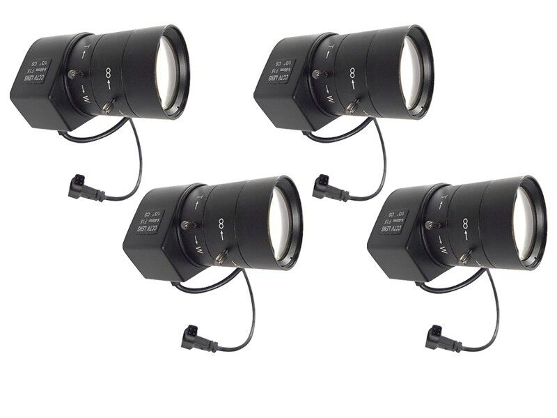 4x Adjustable ZOOM CCTV for Cashier Security Box Camera Lens 6-60mm DC Auto Iris