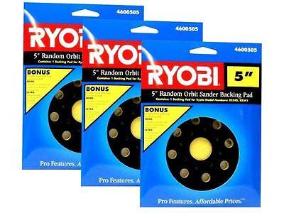 """3 Pack RYOBI 5"""" Random Orbit Sander Backing Sanding Pad 4600505 for RS240, RS241"""
