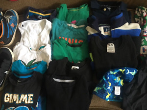 Boys 5T clothes  and shoes - size 13 and size 1