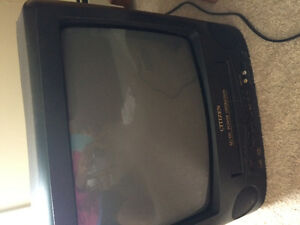Small tv with a VCR