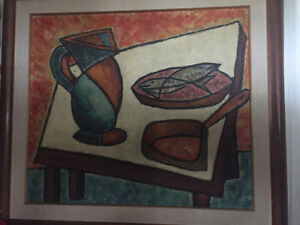 Claude Tremblay still life acrylic painting signed West Island Greater Montréal image 2