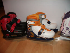 "Patins a glace ajustable ""Cars"" Toy story ""  size  9J - - - 12J"