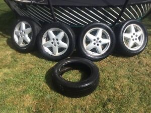 """Set of 16"""" Alloys and Tires"""