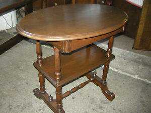antique walnut hall table, gallery shelf, hidden drawer,restored Oakville / Halton Region Toronto (GTA) image 2