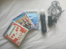 PS3 Move controller & camera + 2 games + starter disc O.N.O