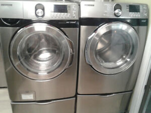 """27"""" SAMSUNG FRONT LOAD SS WASHER/DRYER"""