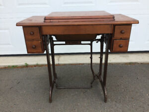 Sewing machine wooden tables