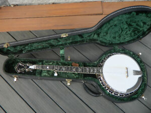 2002 Stelling Staghorn Banjo Mint With Case & Documents