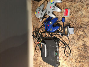 Nintendo 64 + Controllers + Games + Accessories