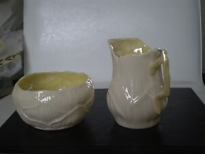 Belleek Porcelain Lily Cream and Sugar Kitchener / Waterloo Kitchener Area image 2