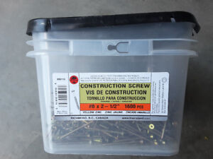 Approx 800 #8 2 1/2 inch construction screws