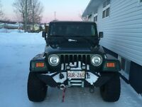 2001 Jeep TJ For sale or trade for a tractor with a blower
