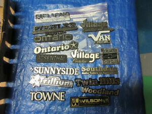 GARAGE BADGES NO TOWN -  LETTERS P to Z
