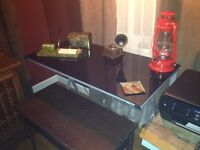 Black glass top desk for sale! Great for students!