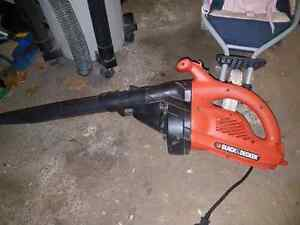 Black and Decker electric  leaf blower.  Barely used.