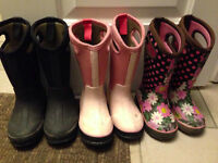 3 pairs of size 10 Bogs