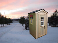 Winter Rural School Bus Stop Shelter - All Wooden - Fully Built