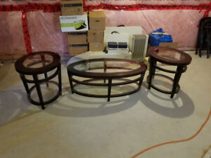 LazyBoy coffee table, and end tables plus  area rug