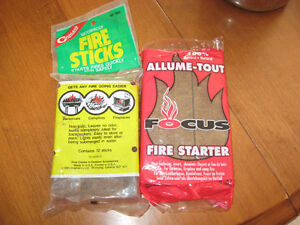 Fire Starter for Camp fires and Aluminum Tent Pegs