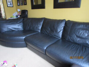 Black Leather Couch $750 OBO