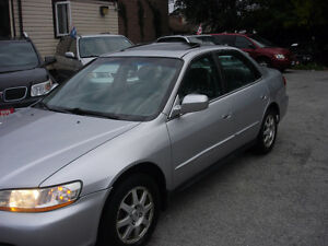 2002 Honda Accord SE Sedan,Sunroof,fully loaded,saftey &E test.