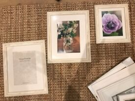 Ikea ribba white picture wall frames and wooden shabby chic distressed picture white deco vintage