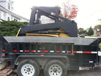 Skid Steer Dump Trailer Services Call/Text 519 476 8769