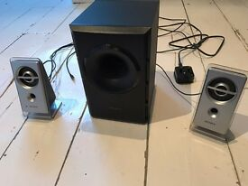 Sony computer speakers with subwoofer