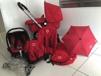 Bugaboo Frog Red with accessories