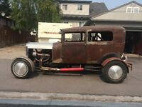 1928 Model A tudor Hot Rod / Rat Rod - Better Photos