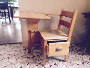 Antique tables and desk