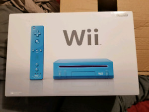 Limited edition Blue Wii