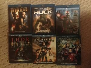 Marvel Phase 1 on Blu-Ray