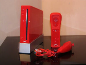Like Brand New Red Nintendo Wii With Mario Kart