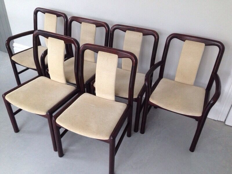 Danish Dining Chair 6 retro danish dining chairsboltinge | in hornsey, london