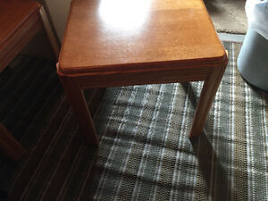 3 piece coffee table & end tables