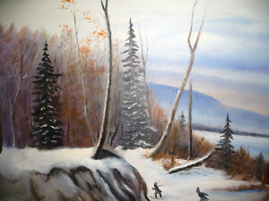 """Winter Trail"" Original Oil by S. Irsag Stratford Kitchener Area image 2"