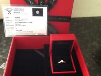 Stunning H Samuel Engagement Ring, Also An 18ct White Gold Engagement Ring and DKNY Watch