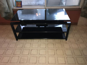 Glass TV stand like new!