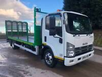 2012 62 ISUZU N75.190 Euro 5 19ft beavertail, hydraulic winch, 200kms