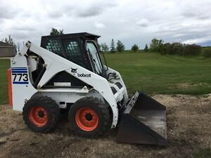 1997 Bobcat 773/Only 710 hours/Heated cab/46 HP Kubota diesel