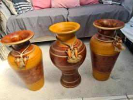 X3 large antique style floor vases