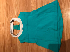 lululemon teal scoop neck tank size 6